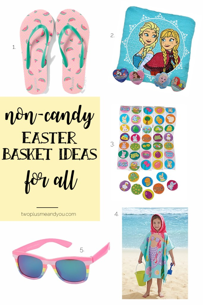 Non-Candy Easter Basket Ideas for All | twoplusmeandyou.com