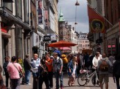 Stroget - the famous pedestrian street