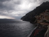 The clouds come in and the thunderstorms begin.. Positano