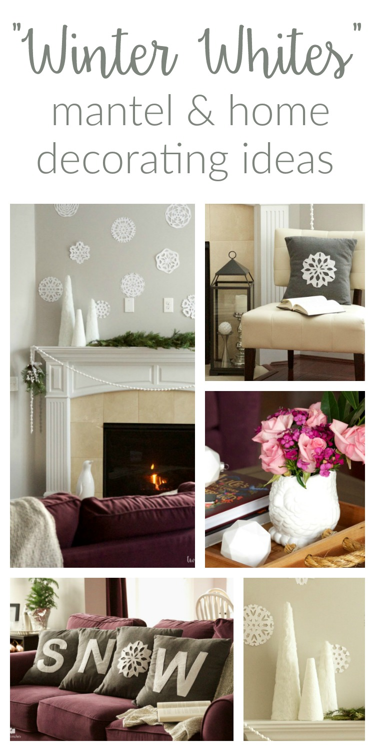 Winter Home Tour   two purple couches Winter Home Tour   Winter Home Decor   Ideas and tips for using a winter  whites