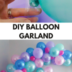 How To Make A Balloon Garland Two Purple Couches