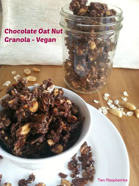 Chocolate Oat Nut Granola Vegan