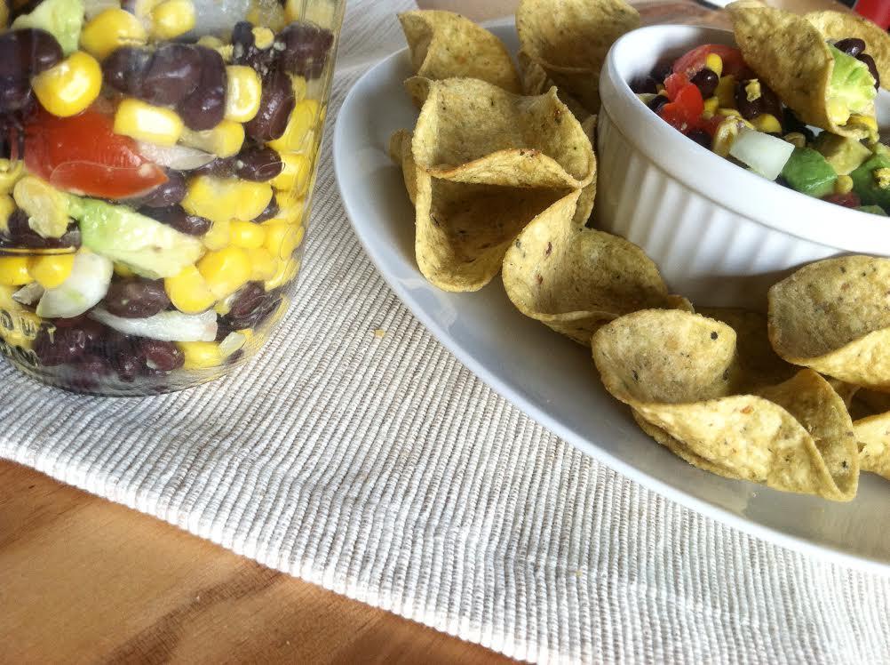 chunky healthy vegan chip dip