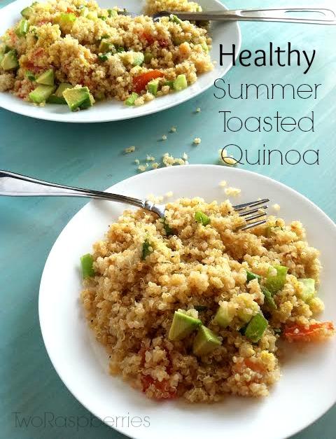 Healthy Summer Toasted Quinoa