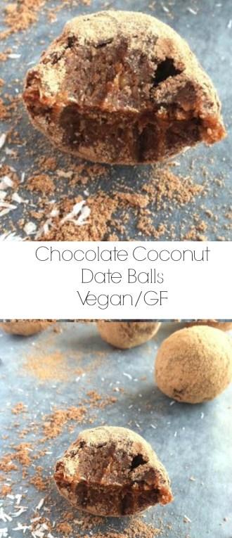 Chocolate Coconut Date Balls