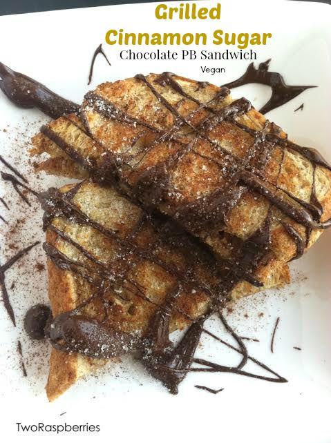 Grilled Cinnamon Sugar Chocolate PB Sandwich