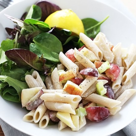 apple + grape pasta salad