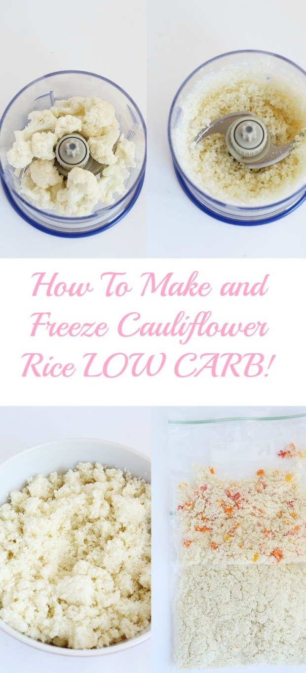 How to Make and Freeze Cauliflower Rice. Cauliflower rice is low carb, healthy, packed with health benefits and super easy to make! / TwoRaspberries.com