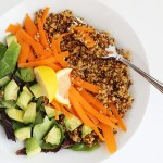 This 5 Ingredient Superfood Quinoa Salad Bowl is so fast to make, only takes about 30 minutes and it is vegan plus gluten free! / TwoRaspberries.com