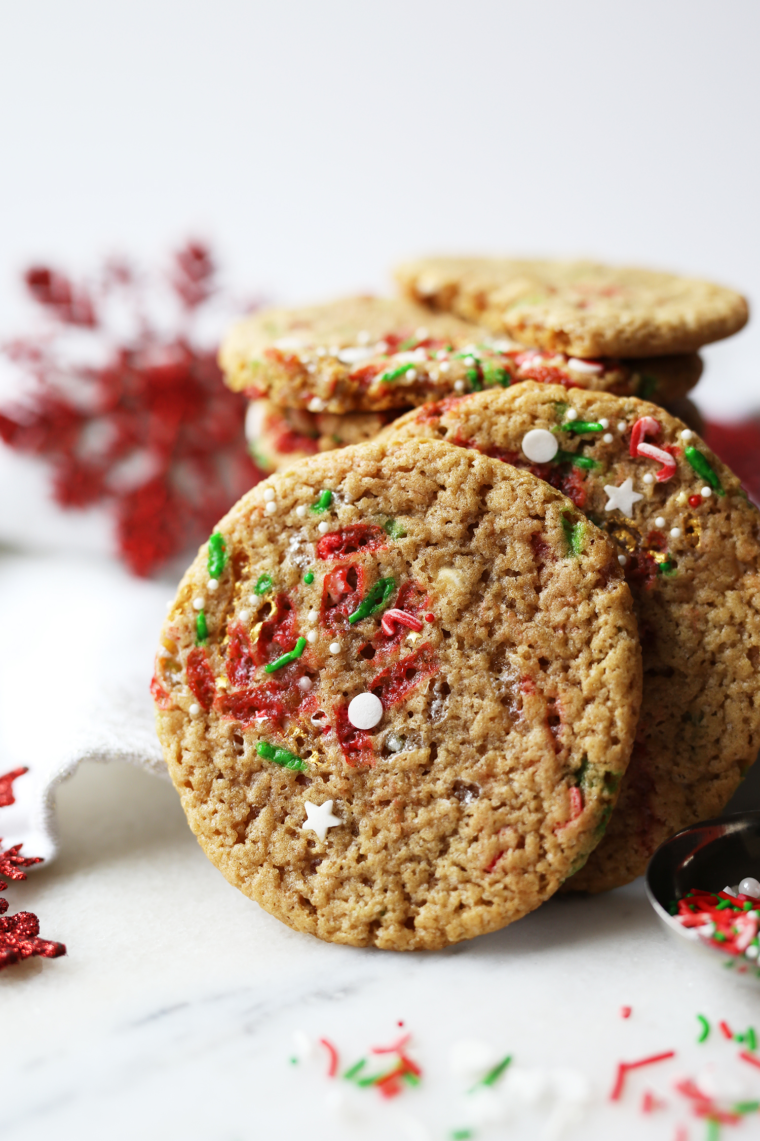 Rudolph S Chewy Sprinkle Cookies