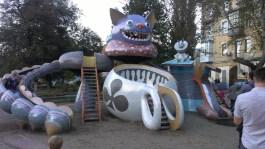 Alice in Wonderland play area. Attempted -- mystic wonderland. Achieved -- creepy.