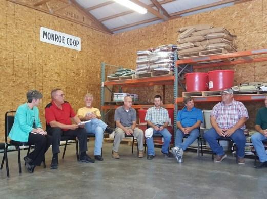 Senator Joni Ernst visits Two Rivers Cooperative