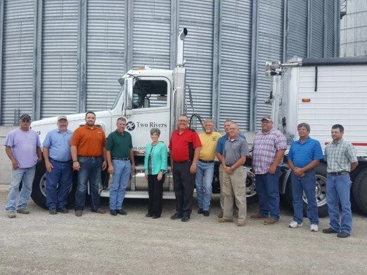 Senator Joni Ernst with staff and board representatives of Two Rivers Cooperative