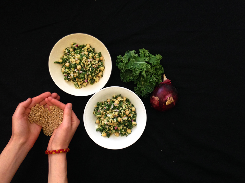 kale barley chickpea salad 30