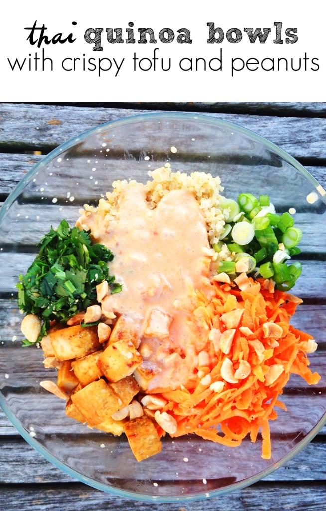 Thai Quinoa Bowls with Crispy Tofu and Peanuts   Two Shakes of Happy