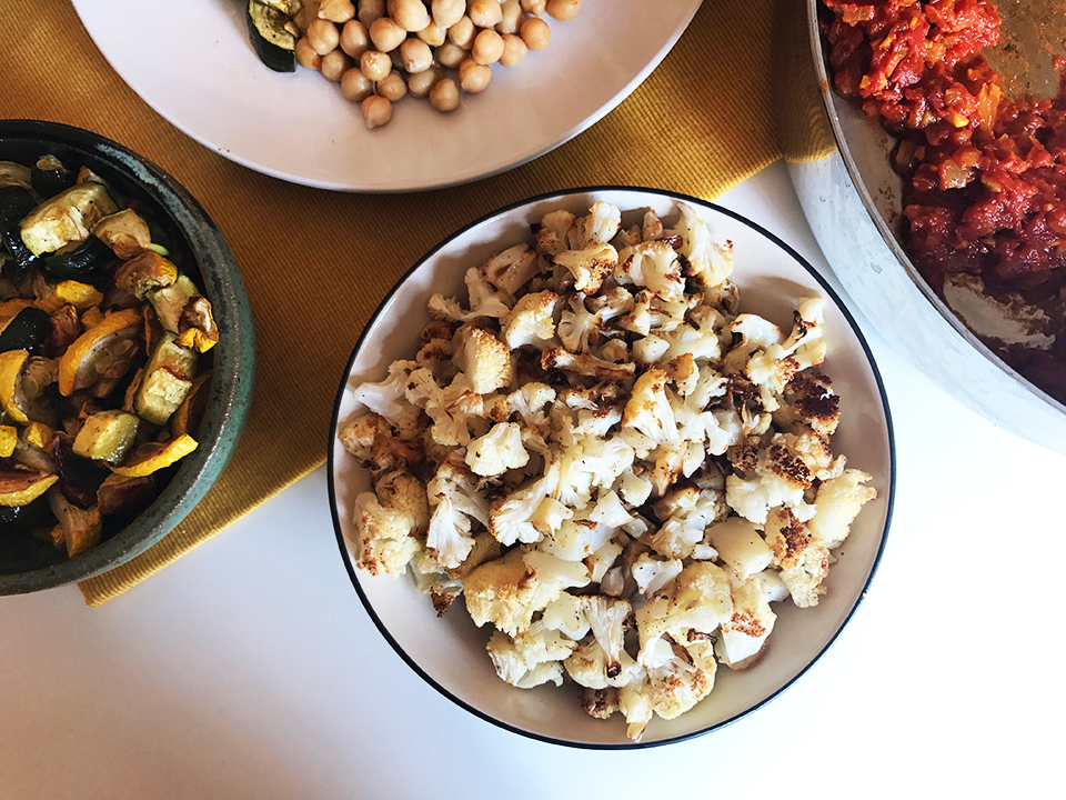 Summer Squash And Cauliflower Curry With Chickpeas Two Shakes Of Happy