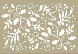 """Couture Creations 4 x 6"""" Stencil - Holly Flourish"""