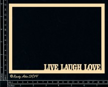 Live Laugh Love Frame Embellishment by Dusty Attic
