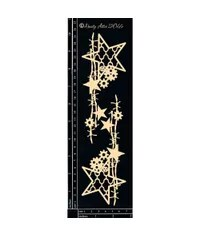 Industrial Barbed Stars Chipboard Embellishment by Dusty Attic