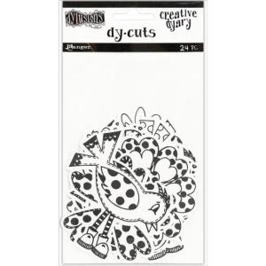 Dyan Reaveley's Dylusions Creative Dyary DY-CUTS -Black and White Birds and Flowers