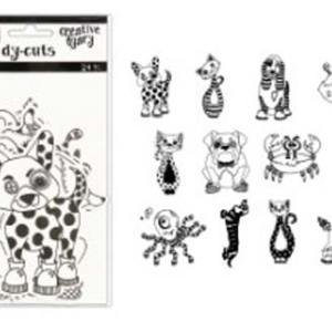 Dyan Reaveley's Dylusions Creative Dyary DY-CUTS -Black and White Animals