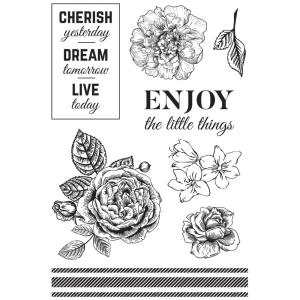 Kaiser Craft Clear Stamps - WANDERING IVY Acrylic 150 x 100 mm Stamp
