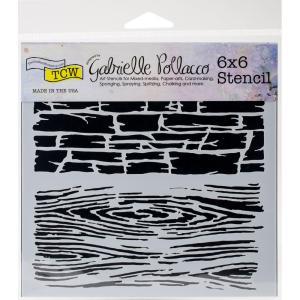 TCW Gabrielle Pollacco 6x6 Stencil - HARD TEXTURES
