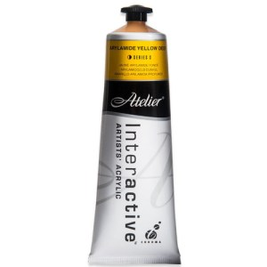 Atelier Interactive Artists Acrylic Paint 80ml- ARYLAMIDE YELLOW DEEP Series 3