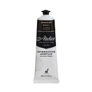 Atelier Interactive Artists Acrylic Paint 80ml- BROWN BLACK Series 1