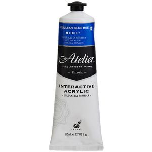 Atelier Interactive Artists Acrylic Paint 80ml- CERULEAN BLUE HUE Series 2
