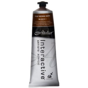 Atelier Interactive Artists Acrylic Paint 80ml- RAW SIENNA DARK Series 1