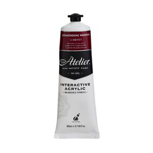 Atelier Interactive Artists Acrylic Paint 80ml- QUINACRIDONE MAGENTA Series 3