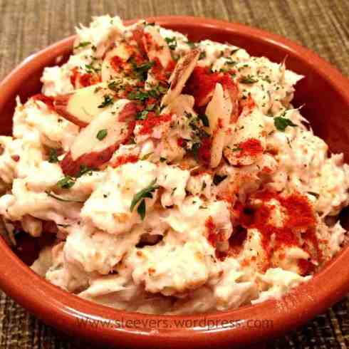 Curry Fish Salad www.twosleevers.com