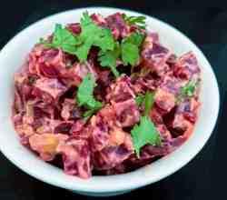 Indian Beetroot Salad with Greek Yogurt