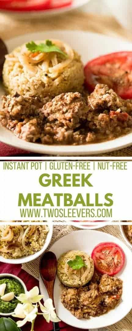 This recipe for Greek Meatballs and Tomato Sauce is perfect for the Instant Pot and will be loved by the whole family!