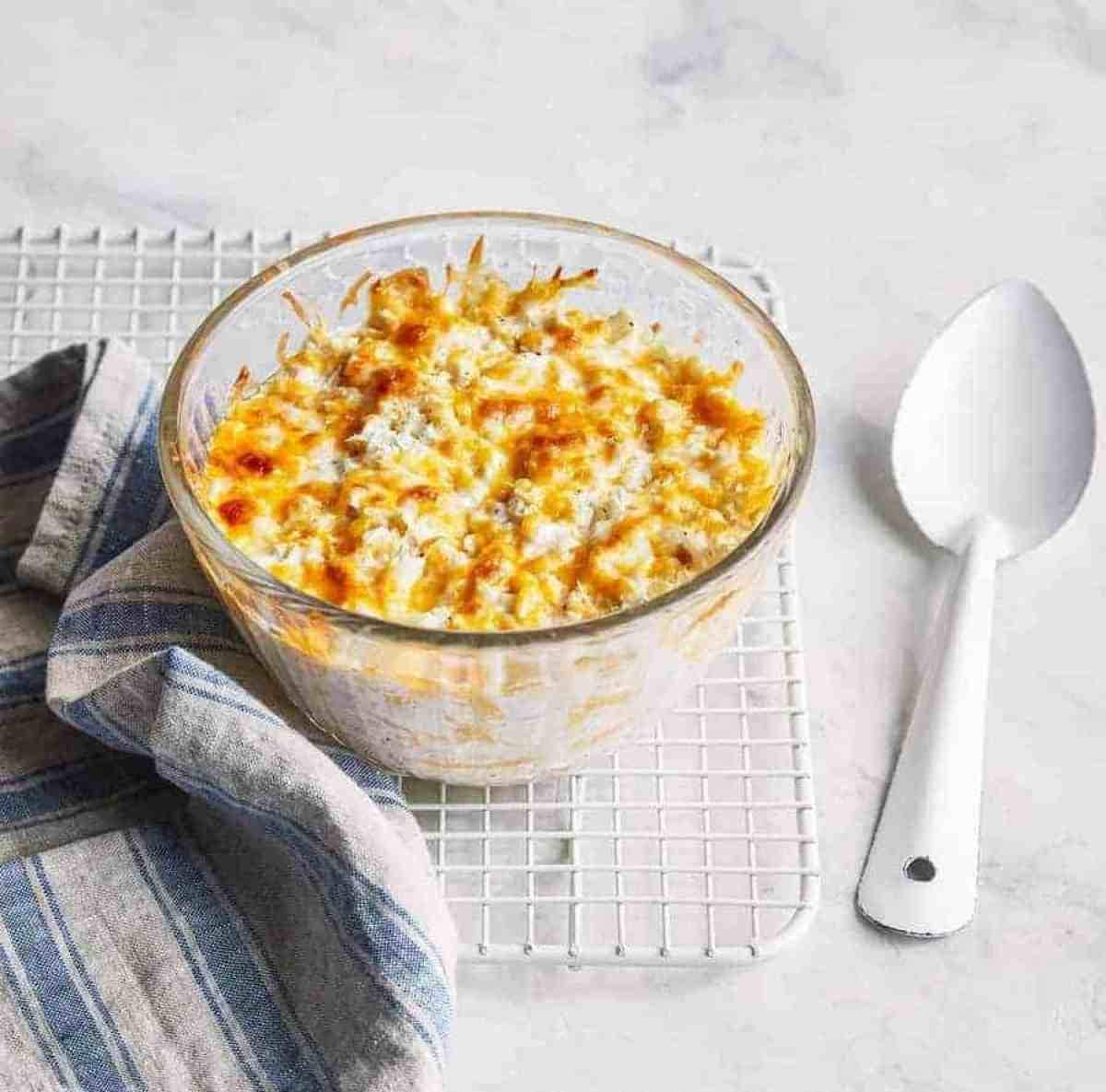 Instant Pot Low Carb Keto Cauliflower and Cheese is a creamy, delicious side dish that you can make in your pressure cooker for the ultimate low carb comfort food!