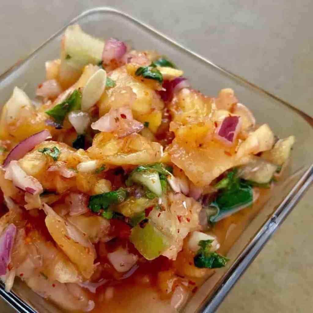 Pineapple cucumber salsa 1024x1024 - Pineapple Cucumber Salsa - https://twosleevers.com