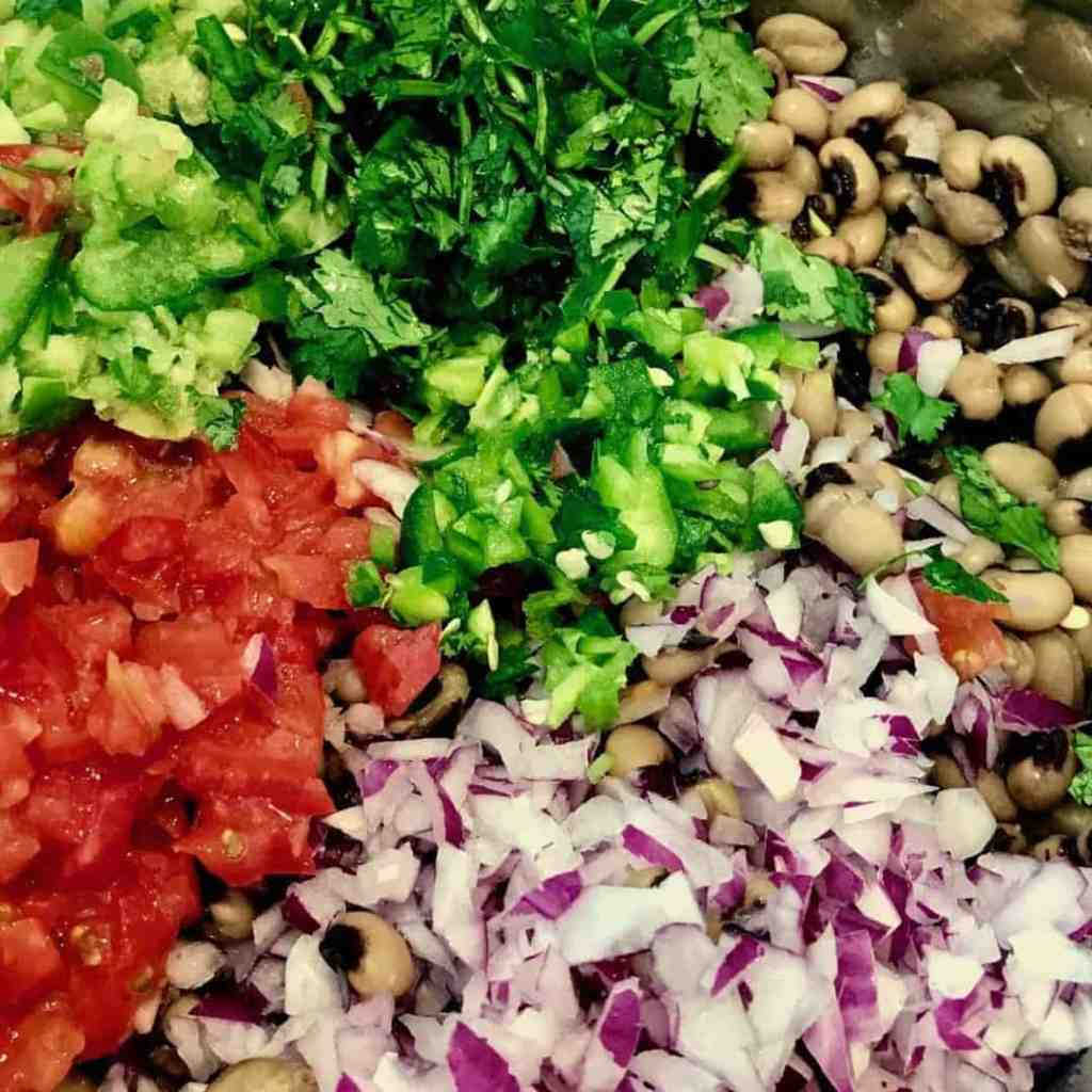 Texas Caviar raw ingredients 1024x1024 - Pressure Cooker Texas Caviar - https://twosleevers.com