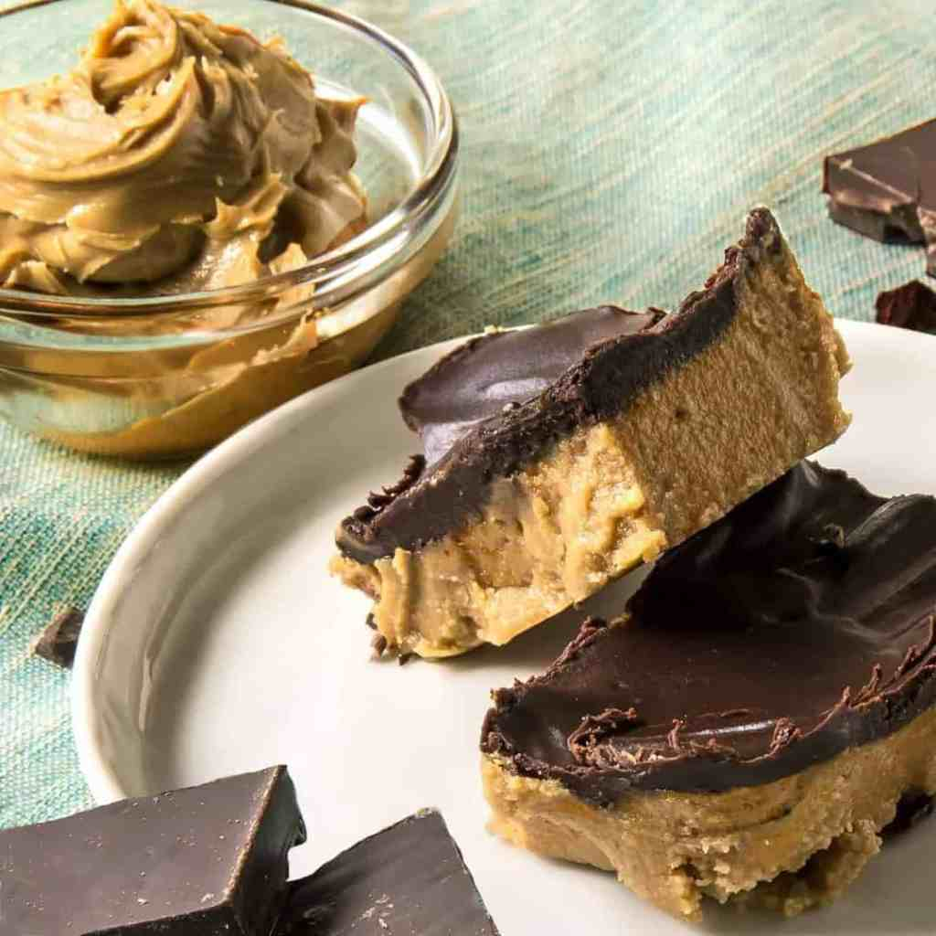 No Bake Keto Peanut Butter Chocolate Bars