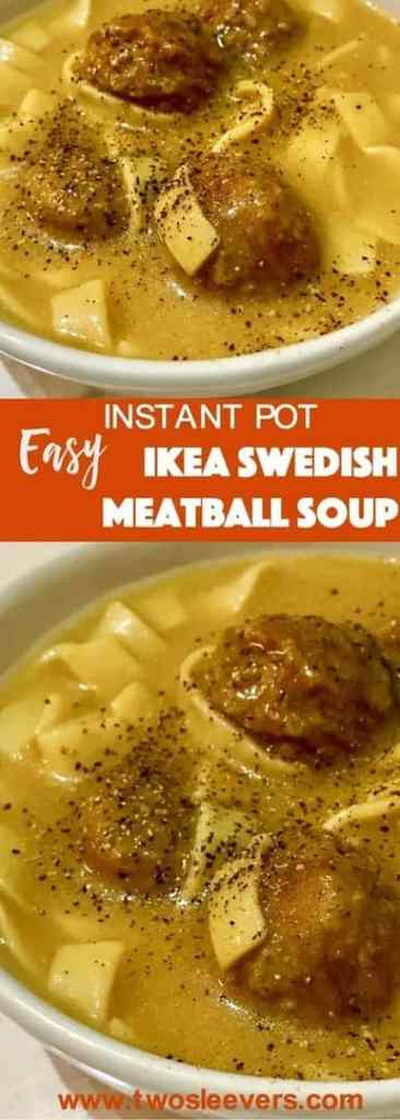 For days when you just need a quick meal, this Ikea Swedish Meatballs Soup take ready-frozen Swedish meatballs and the IKEA cream sauce packet, to make a no-fuss comfort meal.