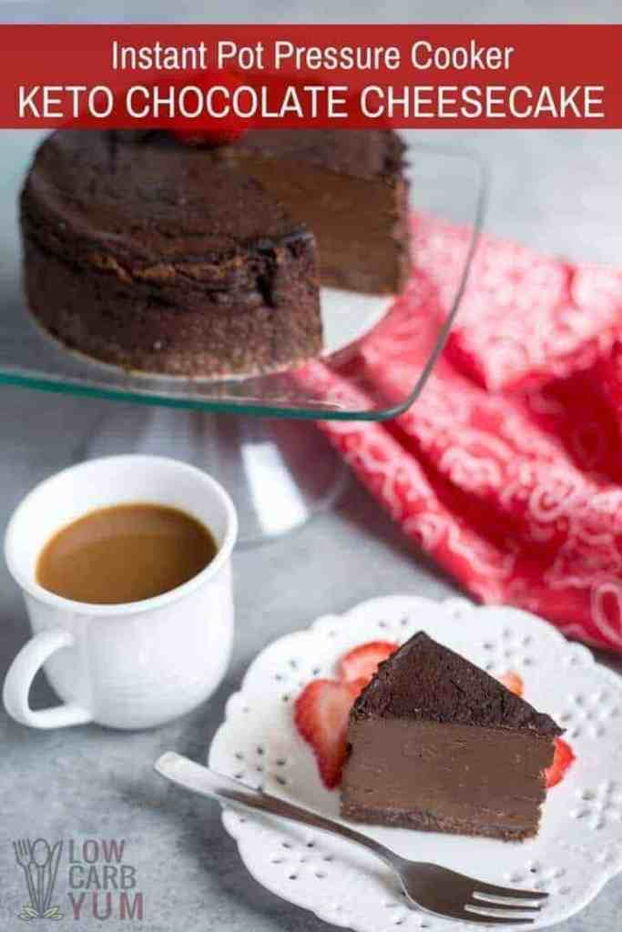 pressure cooker keto chocolate cheesecake c - 13 Best Instant Pot Low Carb Desserts recipe-roundups, recipe-roundup-recipes, pressure-cooker-recipes, keto-low-carb, dessert, recipes Check out these fabulous low carb desserts for your Instant Pot or Pressure Cooker. All the flavor, none of the sugar of regular desserts. - https://twosleevers.com