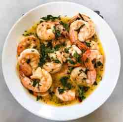 Keto Air Fryer Shrimp Scampi