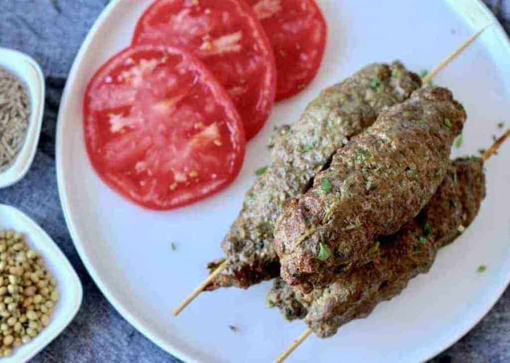 Juicy, fat little kofta kababs are easy, family-friendly, and if you make up the mix ahead of time, dinner can be ready in 10 minutes in your airfryer or oven. Make restaurant-style Kafta Kebab at home with a homemade spice mix, and by using the meat of your choice.