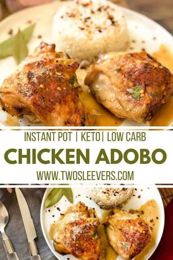 Instant Pot Chicken Adobo   Instant Pot Filipino   Filipino Chicken Recipe   Chicken Adobo   Chicken Adobo Recipe   Instant Pot Chicken   Two Sleevers #filipinorecipe #instantpot #instantpotchicken