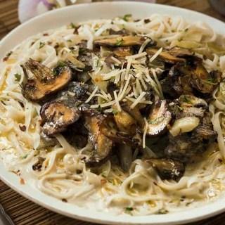 Mascarpone Mushroom Pasta | Air Fryer Recipe
