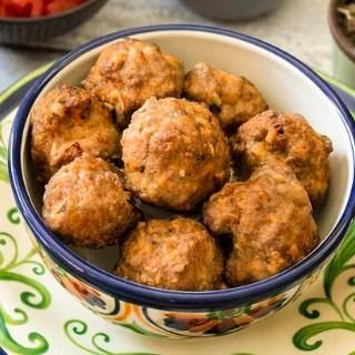 Taco Meatballs | Air Fryer Keto Taco Meatballs