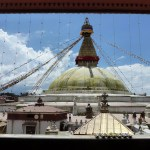 The Boudha Stupa at midday
