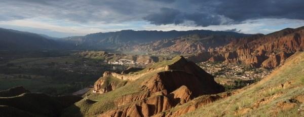 Iron Fort Mountain over Bao'an Village, Rebgong, Qinghai