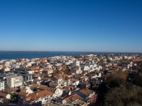 The view of the town from the top of the observatory