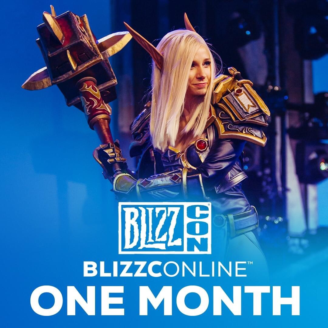 📢 One month until BlizzConline!Virtual festivities in free-to-watch format experience coming on February 19-20! Be sure to stay tuned for more details. 👀